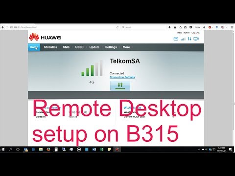 How to setup Remote Desktop login through the Huawei B315 router
