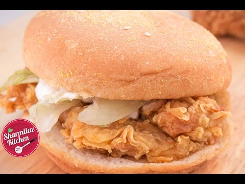 KFC Style Chicken Zinger Burger - Mad About Chicken Burger? Try Out This Recipe