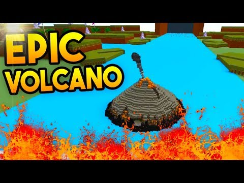 *ERUPTING* VOLCANO!   Build A Boat For Treasure ROBLOX