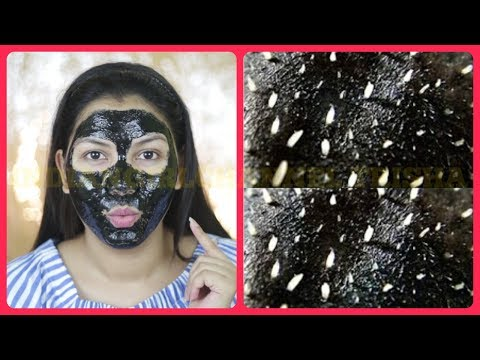 How to remove Blackheads & Whiteheads At Home within 2 minutes/Charcoal Peel-Off Mask