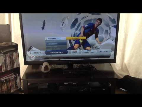 FIFA 13 in game menu and settings