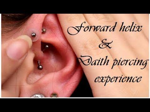 Forward helix & daith-piercing experience