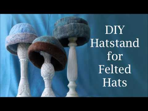 DIY Hat Stand for Felted Hats