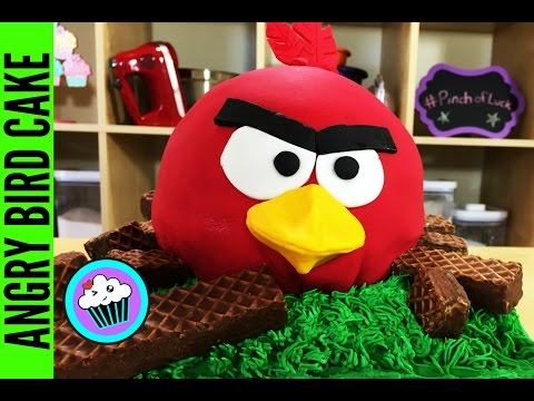 How to make an Angry Bird Cake | Pinch of Luck