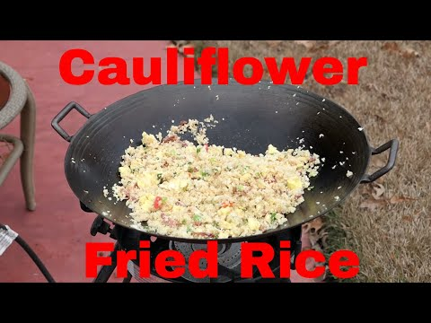 Cauliflower Fried Rice cooked on the Big Kahuna Burner