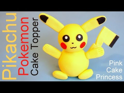 Pokémon Go Pikachu Cake Topper How to by Pink Cake Princess