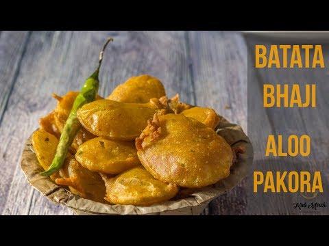 Kurkurit Batatyachi Bhaji-Potato Bhajia recipe-how to make Aloo bajji-Kalimirchbysmita-Ep277