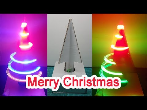 How to make a CHRISTMAS TREE at home Using Cardboard