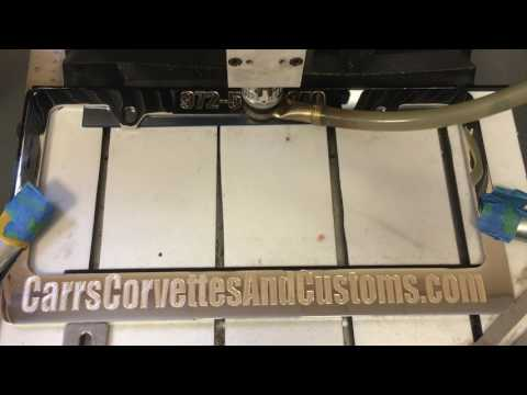 Custom Engraved Brass License Plate Frame