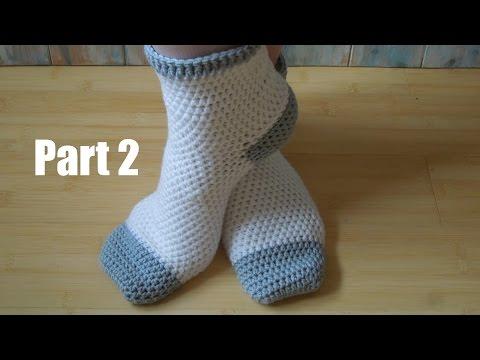 (crochet) Pt2: How To Crochet Adult Socks - Yarn Scrap Friday