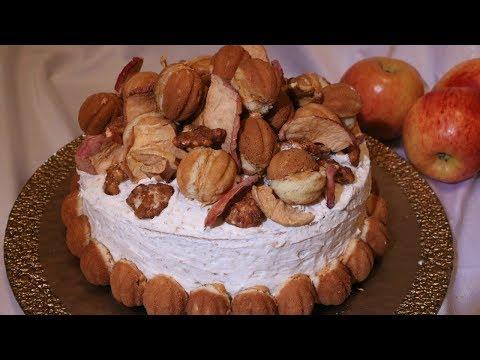 Walnut Cake with Walnut Buttercream Frosting