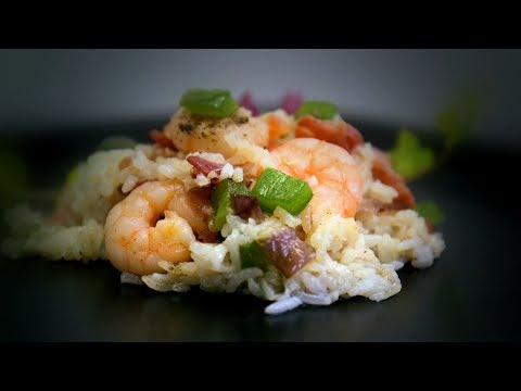 Chinese Shrimp & Bacon Crispy Fried Rice (Chinese Cooking Recipe)