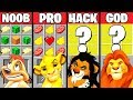 Minecraft Battle THE LION KING MOVIE CRAFTING CHALLENGE NOOB Vs PRO Vs HACKER Vs GOD Animation