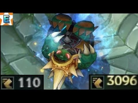 Slowest and Fastest Rammus Dance Speed scaling with movement speed 110/3096 movement speed