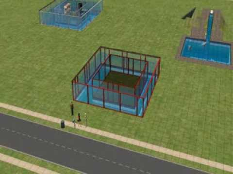 The sims 2- how to build a underwater house with windows