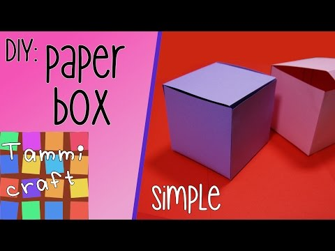 DIY: How make a cool paper box/cube with opening lid - Tutorial - Tammi Craft (easy)