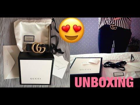 2017 Unboxing GUCCI Marmont  BELT , 4cm width , Gucci size 85 || Marta In_Vogue_UK
