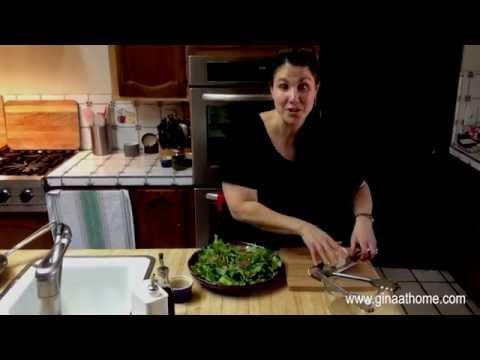 How To Make Arugula Salad With Caramelized Shallot Dressing