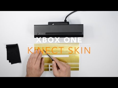 Xbox ONE KINECT Skin Wrap - Install / Review - Brushed GOLD