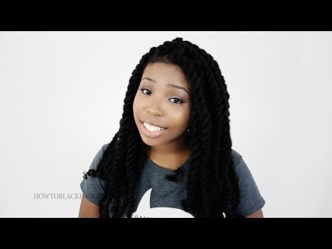 Havana Twists Finished Results Protective Hairstyle Tutorial Part 6