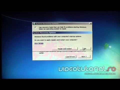 Rezolvarea erorii BOOTMGR in missing prin repararea boot manager-ului din windows 7.mp4
