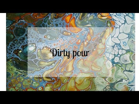 41 Acrylic Dirty Pour - Waste Not Want Not