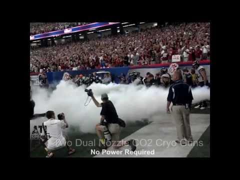 CO2 Cryo Fog Virginia Tech Two Dual Nozzle CO2 Guns by ATL FX