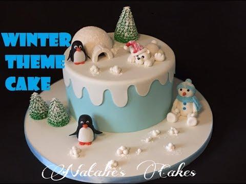 How to create winter theme cake