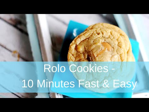 Rolo Cookies | In 10 Minutes Fast and Easy