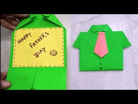 DIY Greeting Card For Father's Day | How to make Shirt Card |