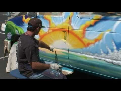 Dream Machine - Painting a Van Graffiti Style (Long Version)