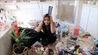 decluttering my ENTIRE room/moving day ft. yikes