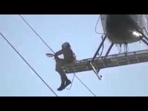 Bird rescue via helicopter