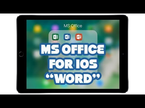 MS Office for iOS | WORD | PART 1