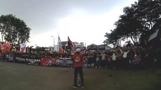 Corteo PERSIKA FANS menuju stadion maulana yusuf , serang banten