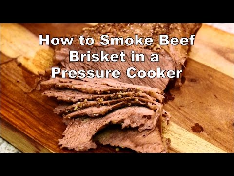 How to smoke beef brisket in a pressure cooker | Chef Cristian on Food Chain TV