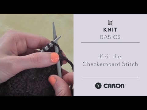 How To Knit the Checkerboard Stitch