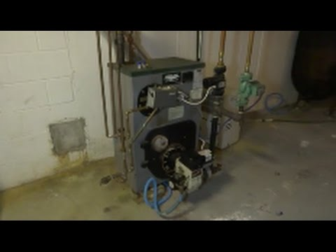 peerless /beckett oil burner maintainance cleaning combustion test