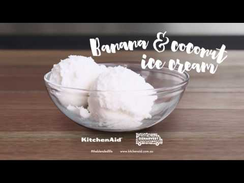 How to make Banana & Coconut Ice Cream with the KitchenAid® Pro Line® Blender