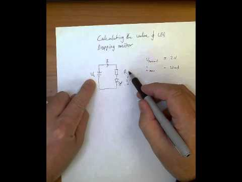 calculate LED dropping resistor value