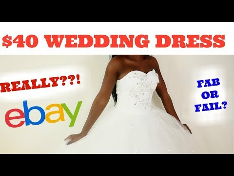 Really Ebay?? $40 Ebay Wedding Dress | NikkiBeautyBliss