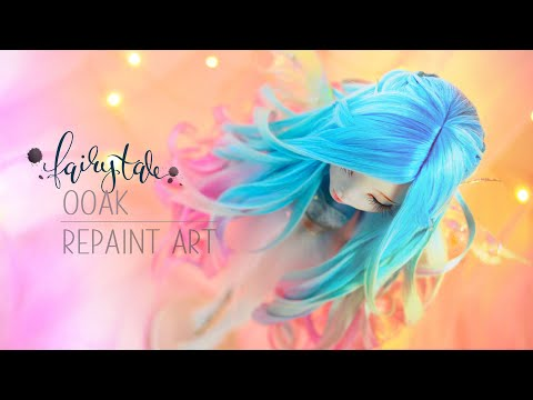 Fairytale Series Repaint - Making a Moonlight Wisp, Wings, Doll Wig and Mods Lagoona Blue