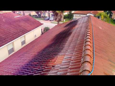 Barrel Tile Roof Cleaning Lakeland, Florida