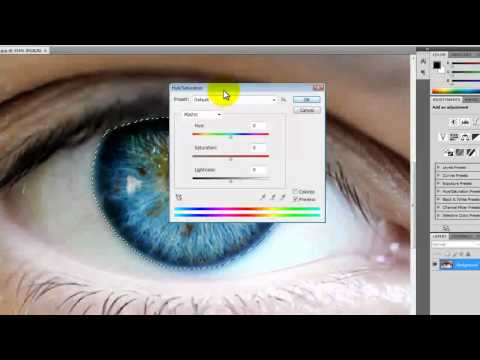How to change eye color in photoshop CS4