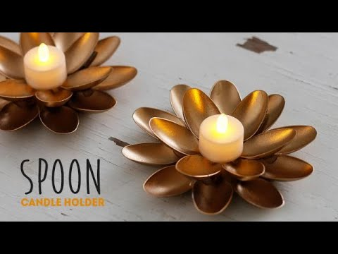 DIY Spoon Candle Holder