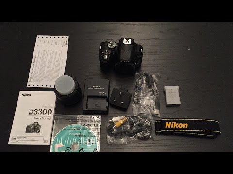 Unboxing the Nikon D3300 18-55 VR II