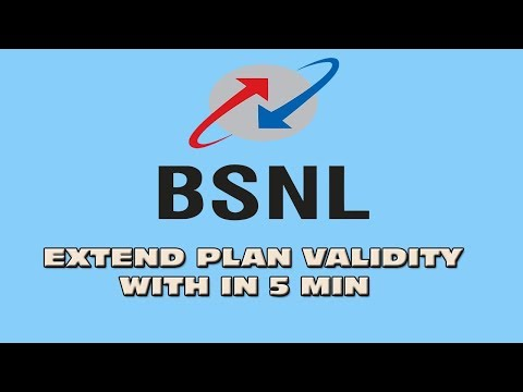 how to extend Bsnl mobile plan validity after expiry | Malayalam