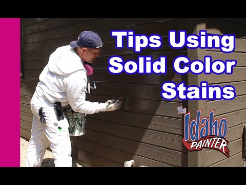 How To Stain A Wood Sided House.  Stain A House In One Day.