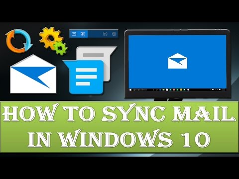 How to sync mail in windows 10?