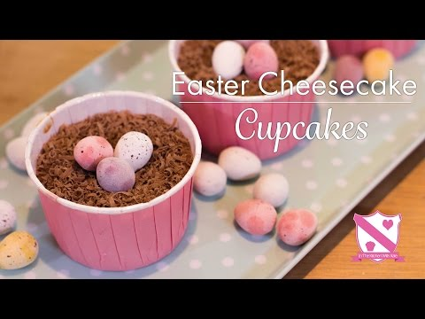 Easter Mini Cheesecake Cupcakes- In The Kitchen With Kate